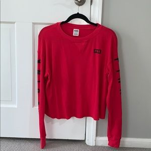PINK red long sleeve